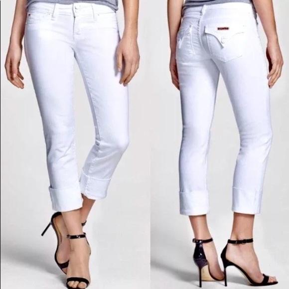31f2b2f62a0 Hudson Jeans Denim - Hudson Ginny Crop Straight Cuffed Jean size 26 EUC